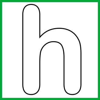 h and p template - the letter h clipart best