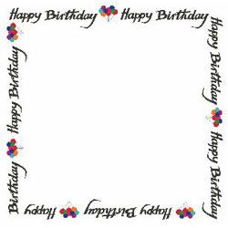 Birthday Border - ClipArt Best