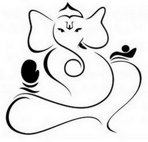 Ganesh Line Drawing : Ganesh drawing outline clipart best
