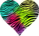 Colorful animal print hearts - photo#14