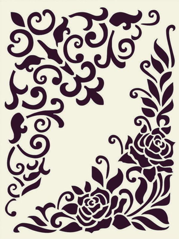 Paisley stencil printable clipart best for Printable stencils for canvas painting