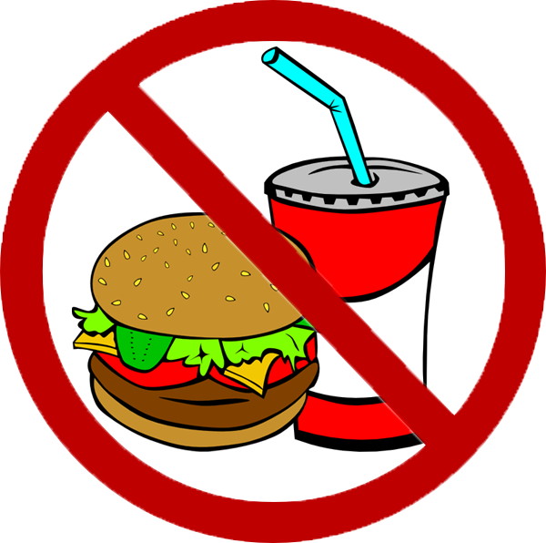 clipart clip drink junk fast drinking stealing sign vector beverage avoid water eat cliparts foods clker domain royalty acne fasting