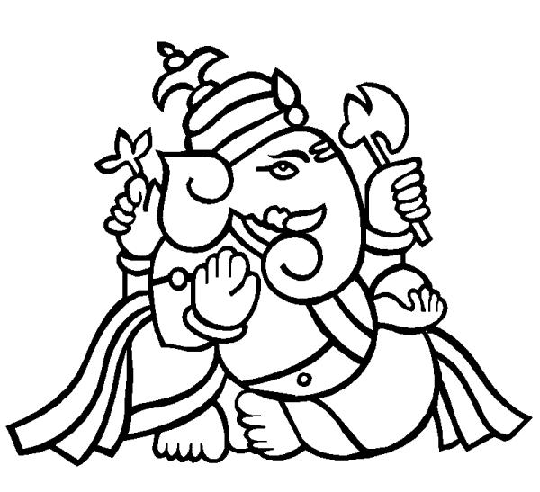 Sketch Of Ganesh Ji - ClipArt Best