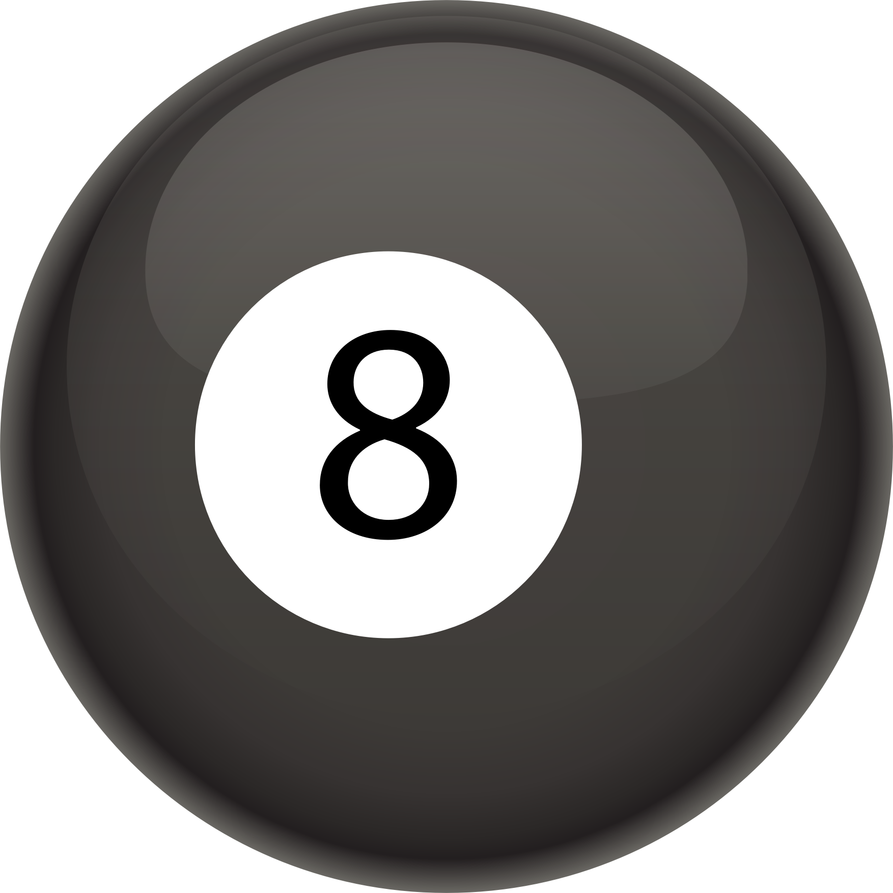 Eight ball pics clipart best - 8 ball pictures ...