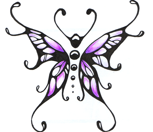Cool butterfly drawing clipart best for Cool drawings of butterflies