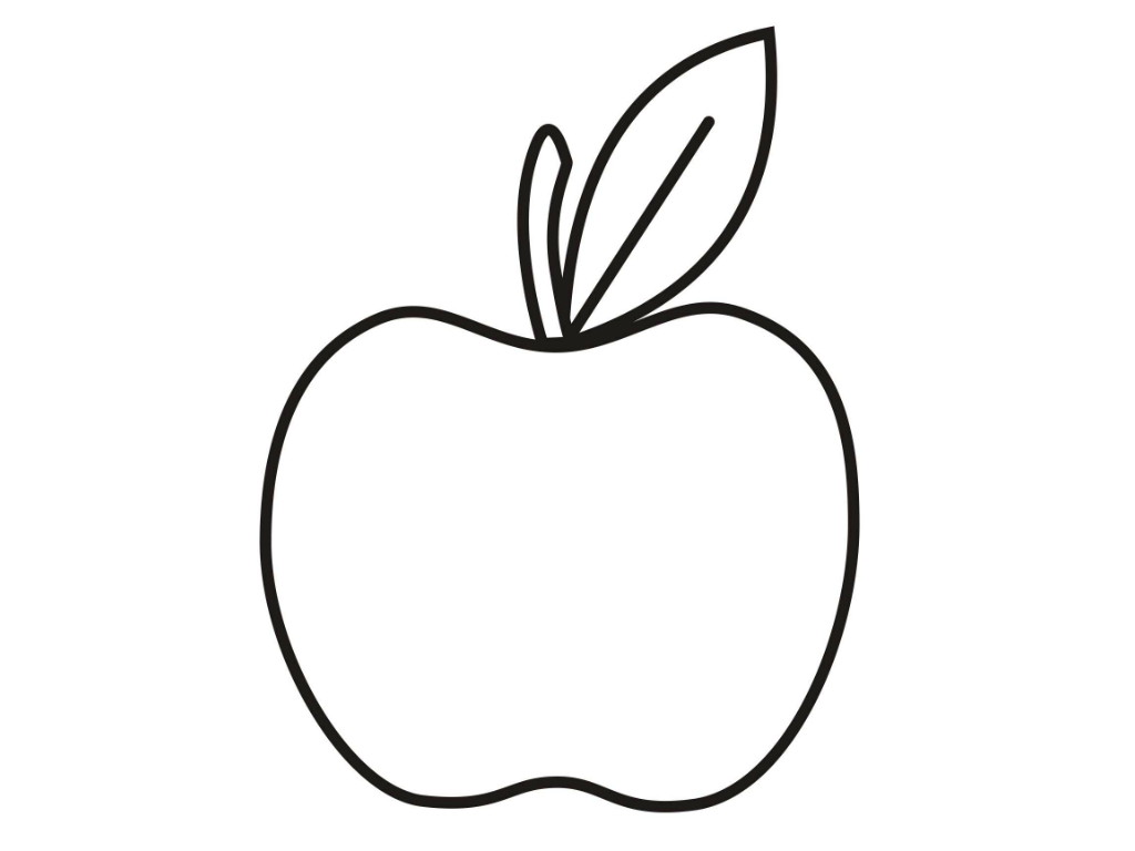 Apple Computer Coloring Pages : Pictures of apples to color clipart best