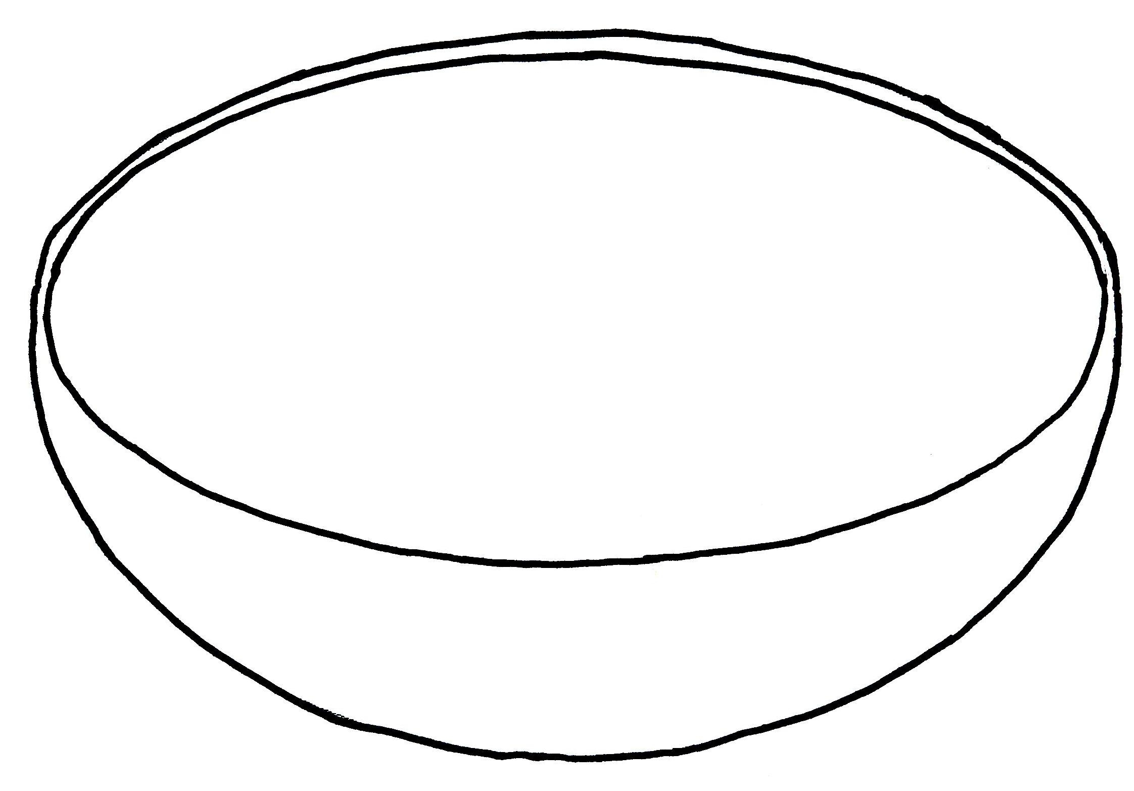 Bowl Coloring Page