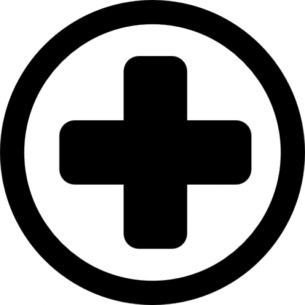 Hospital medical signal of a cross in a circle Icons | Free Download