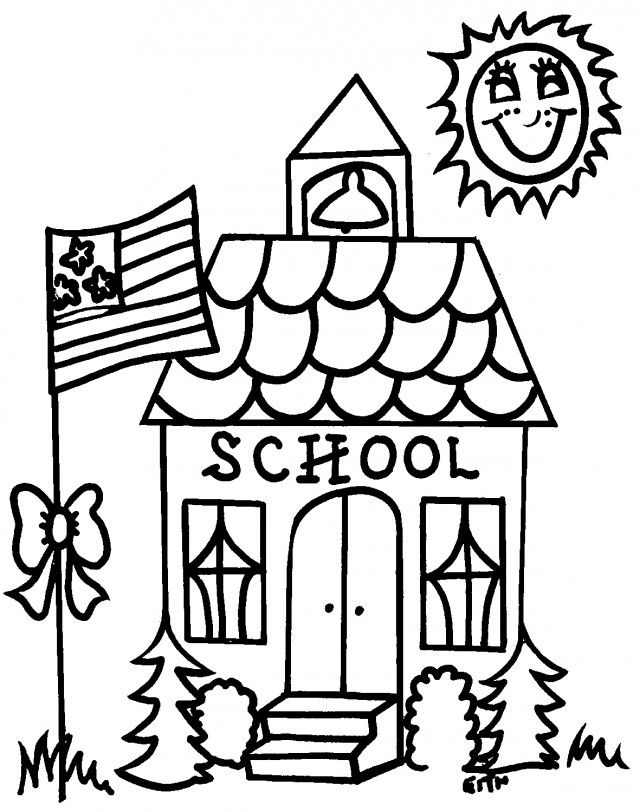 free black and white school house clipart - photo #21