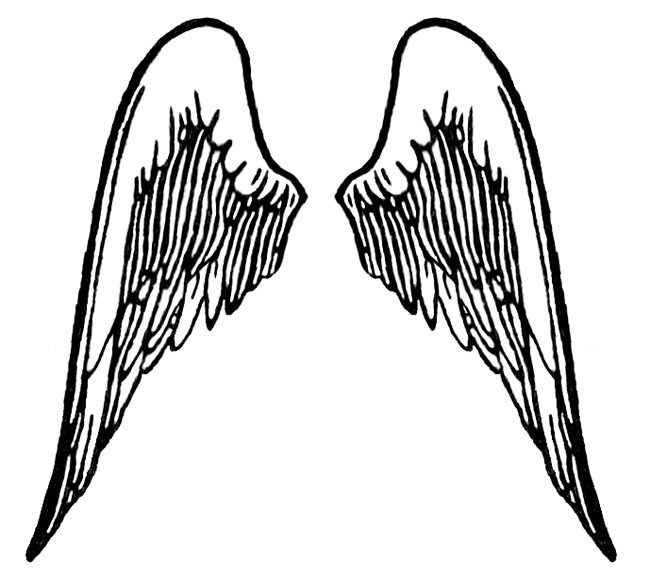 free angel wings with halo clip art - photo #21