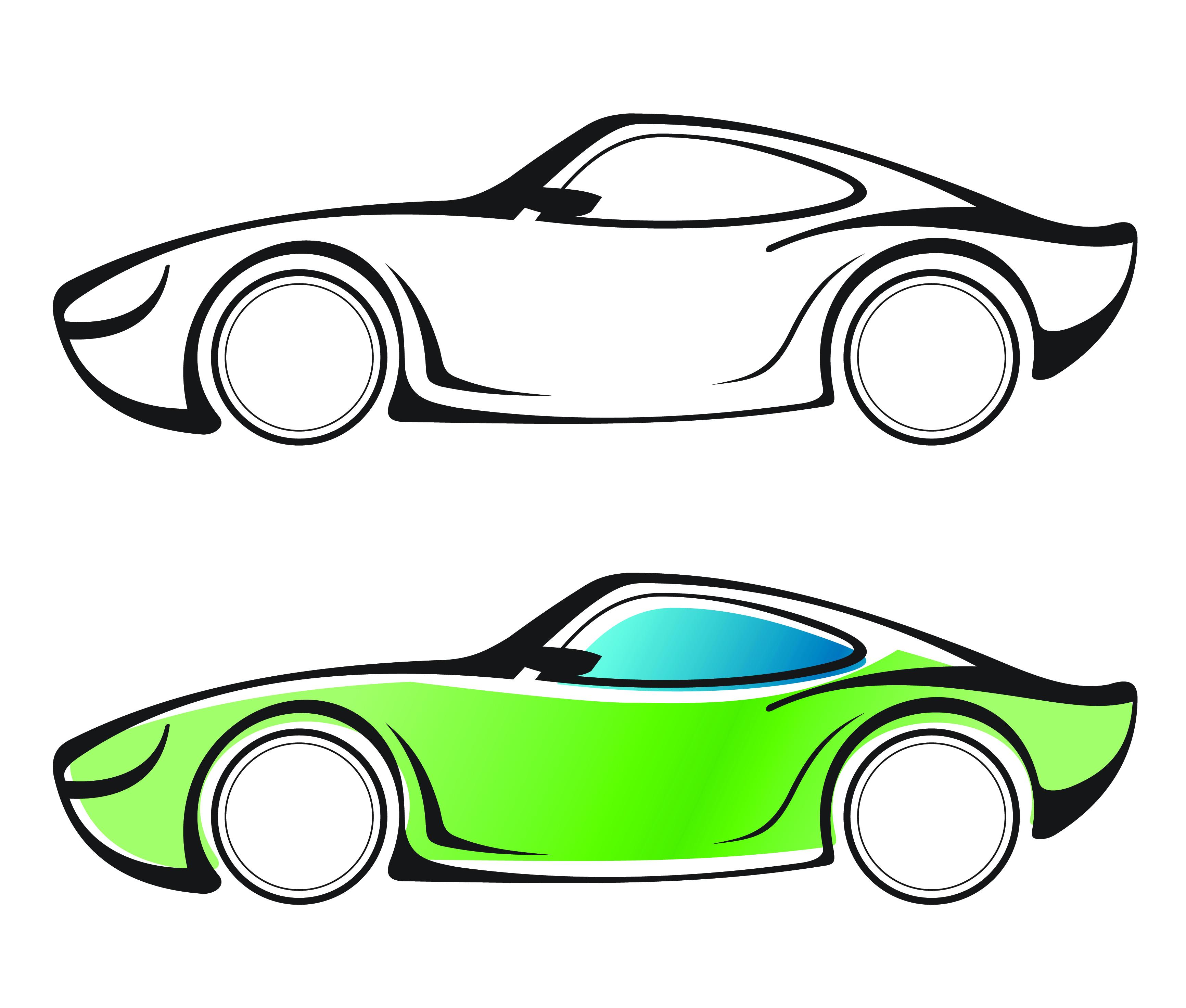 Vector Drawing Lines App : Car vector clipart best
