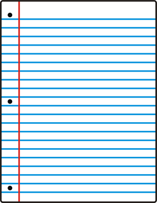 Notebook Paper Printable - ClipArt Best