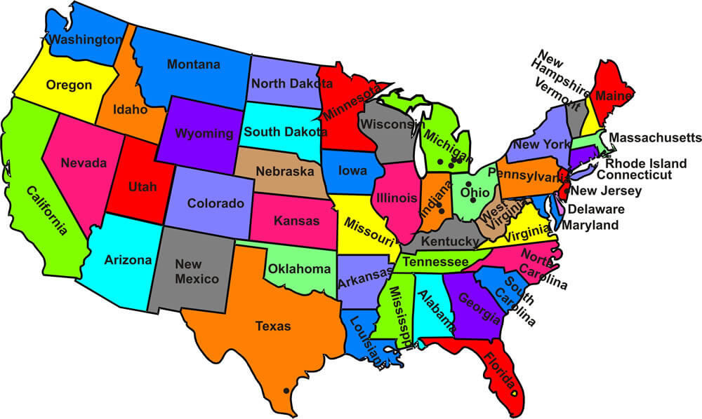 Usa Maps Pics Usa Maps Of The World - Usa map with capitals and states