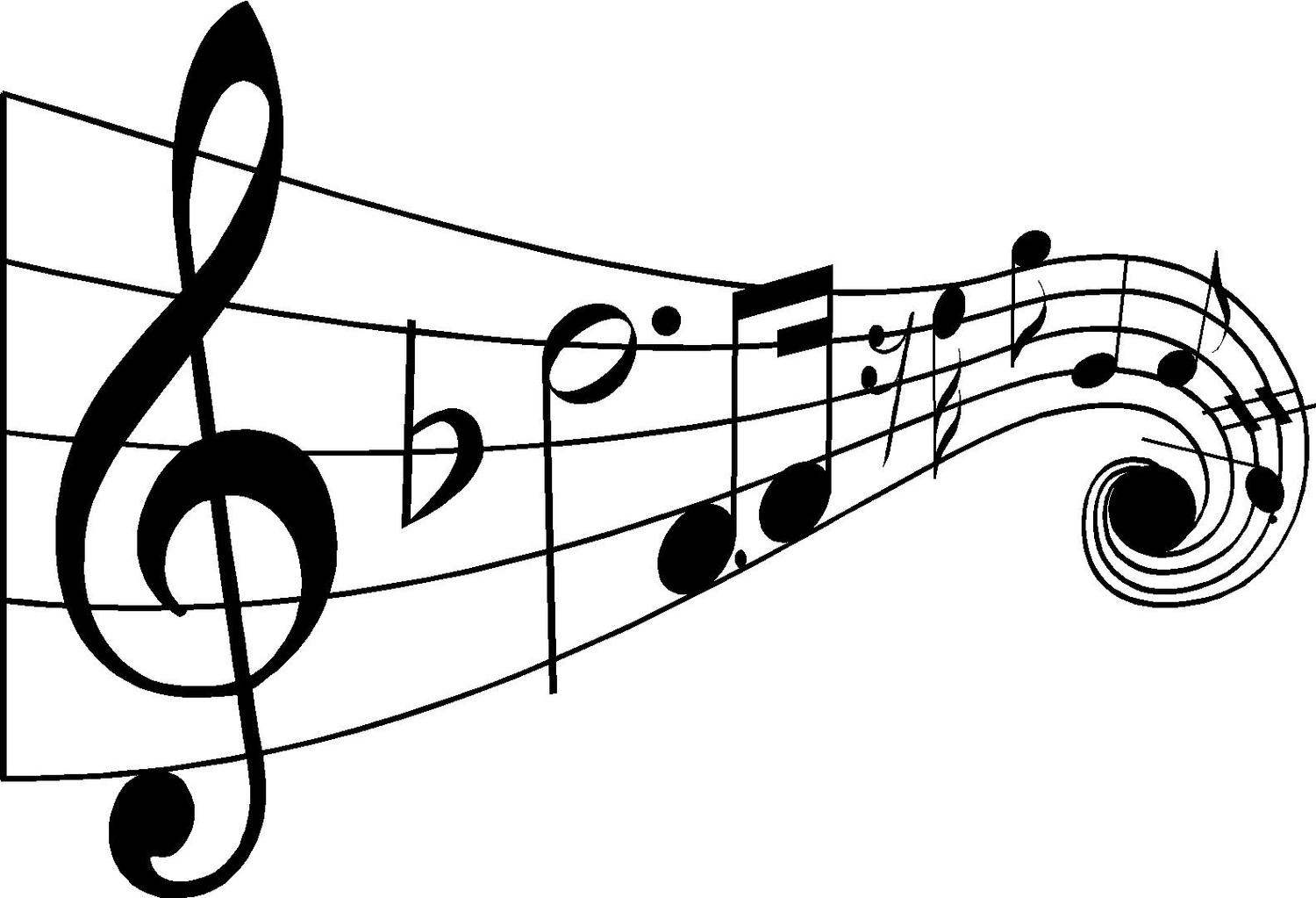Sassy image in printable music notes symbols
