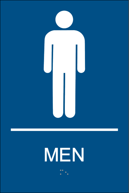 Mens Restroom Signs With Braille Mens Bathroom Signs