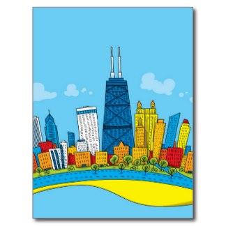 Cartoon Skyline Design T-Shirts, Cartoon Skyline Design Gifts, Art ...