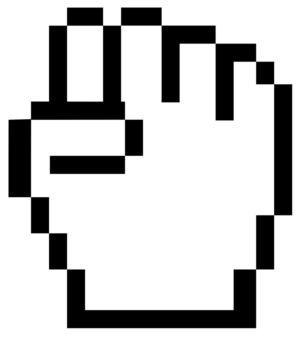 Clip Art: mouse pointer fist SVG