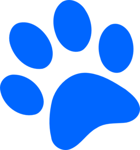 Dark Blue Paw Print Clip Art Vector Online Royalty Free on ...