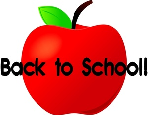 Back To School Clipart Image - Back To School Text With A Red ...