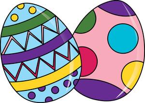 Easter Eggs Clipart Image - clip art cartoon of beautifully ...