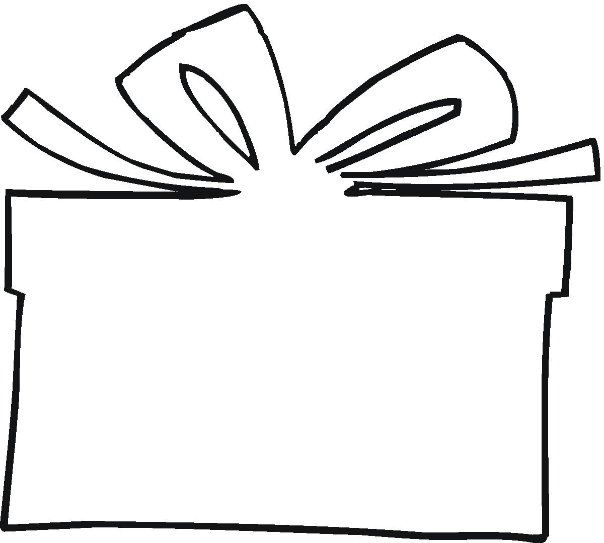Gift Tag Outline ClipArt Best
