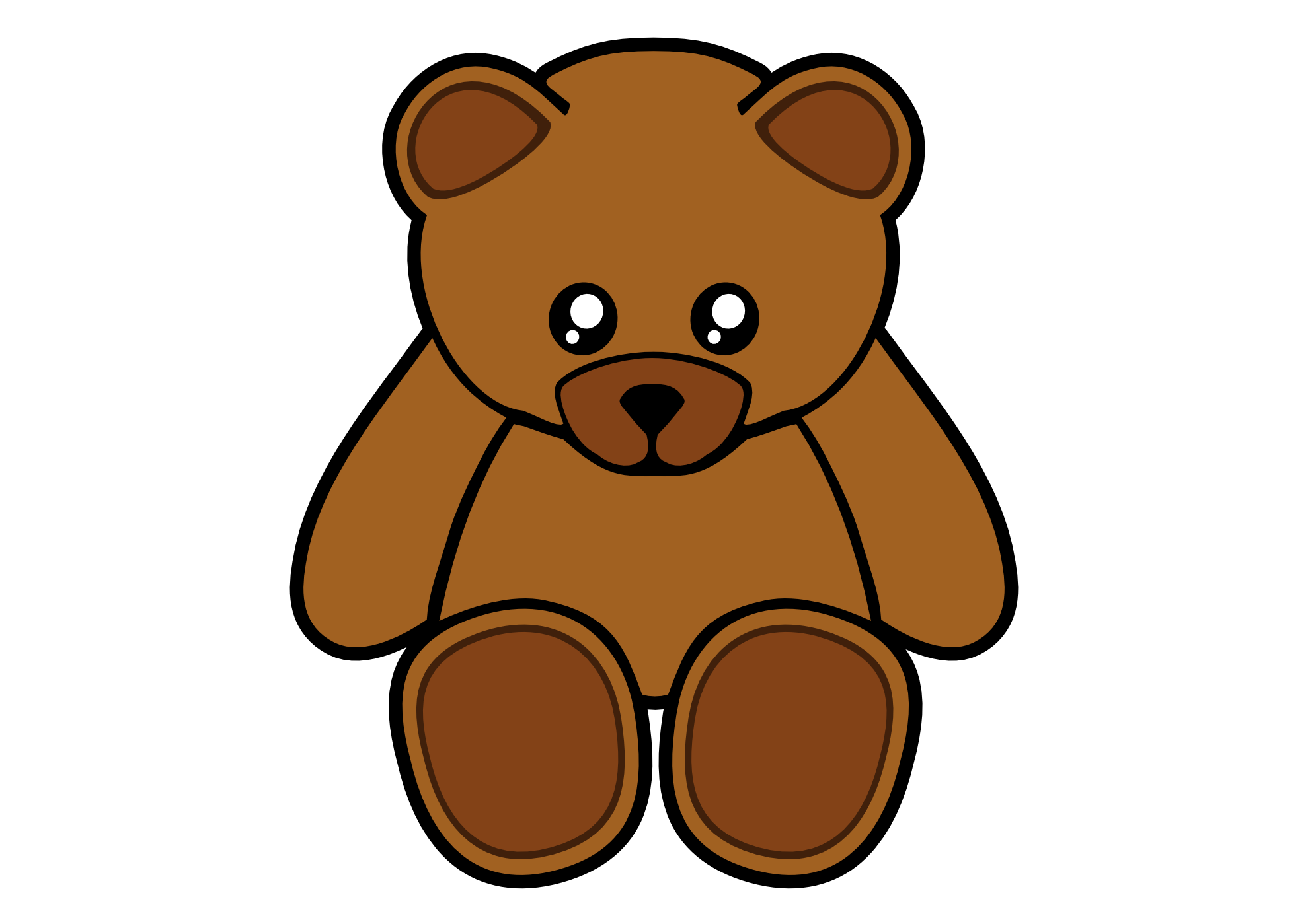 teddy bear clipart clipart best Black Teddy Bear Vector California Bear Vector