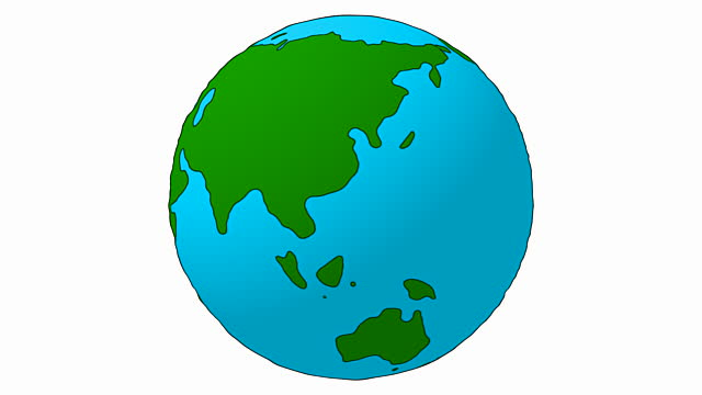 Cartoon Earth Asia