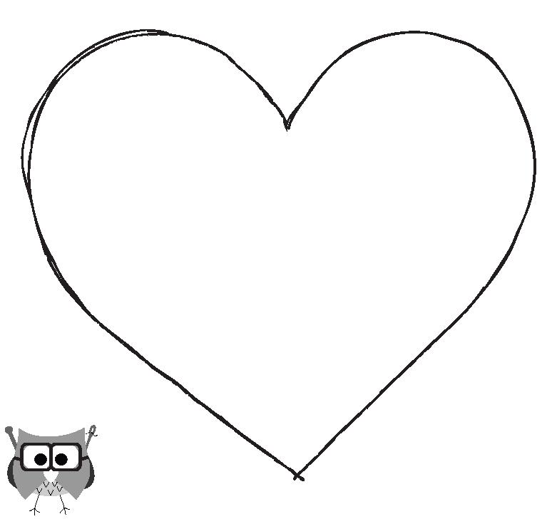 Loveheart Stencil Clipart Best