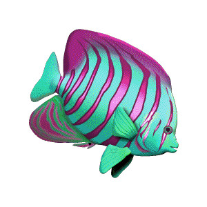 Tropical Fish Stencil Image on Realistic Tropical Fish Clip Art