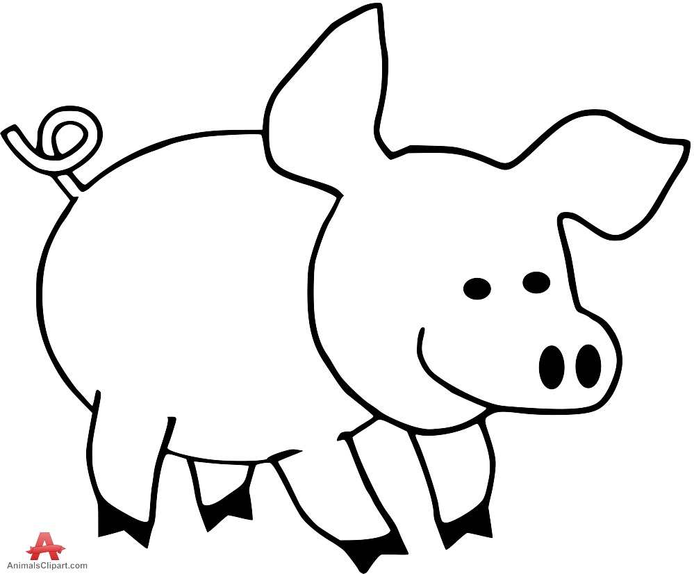 Outline Of A Pig - ClipArt Best