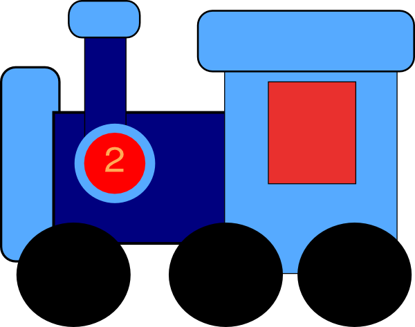 Train engine clip art