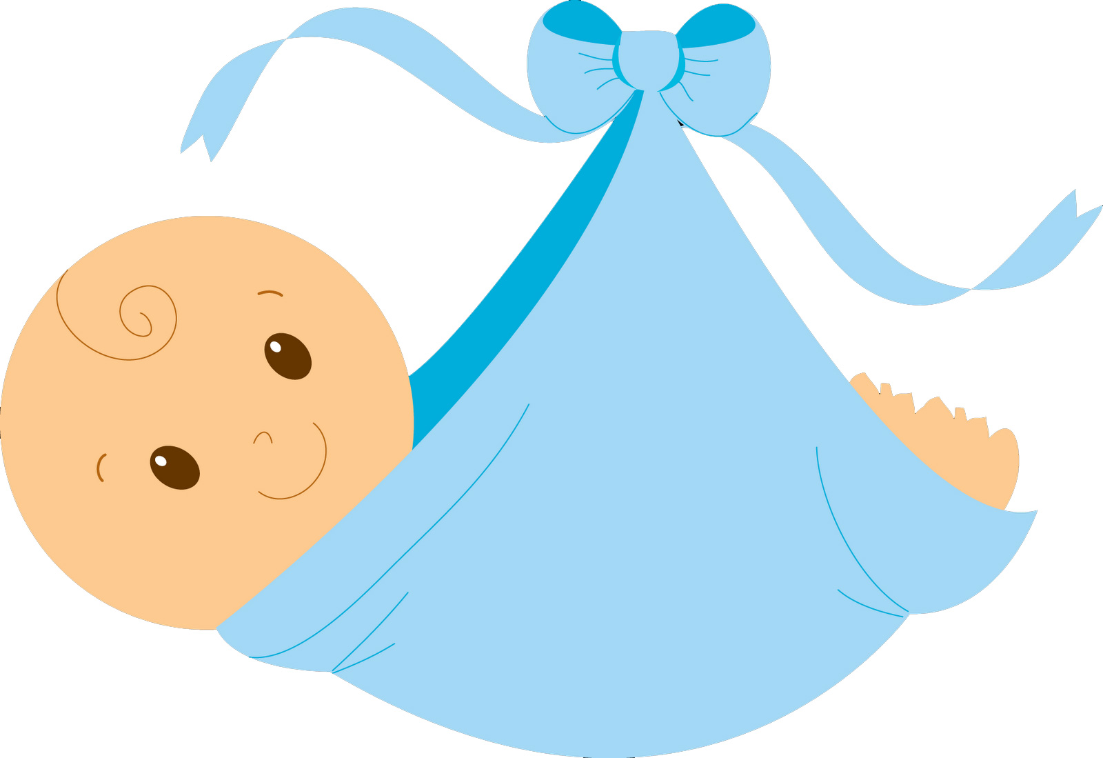 Baby shower clip art boy