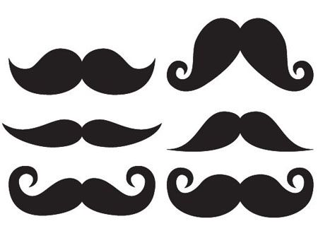 large mustache template clipart best