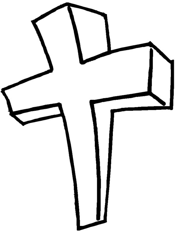 cross coloring pages picture 1 printable jesus bible coloring