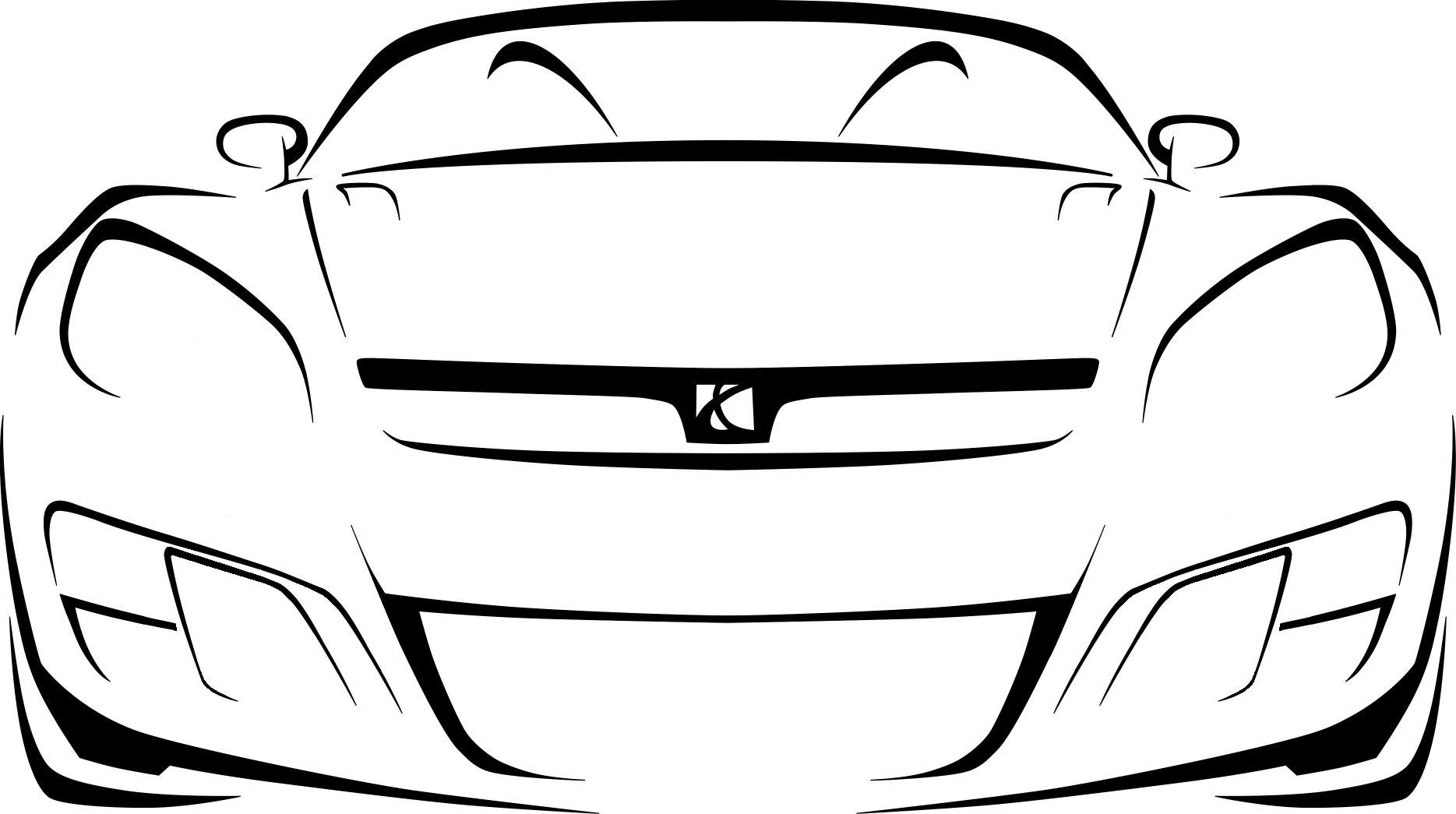 Racing car outline drawing 15