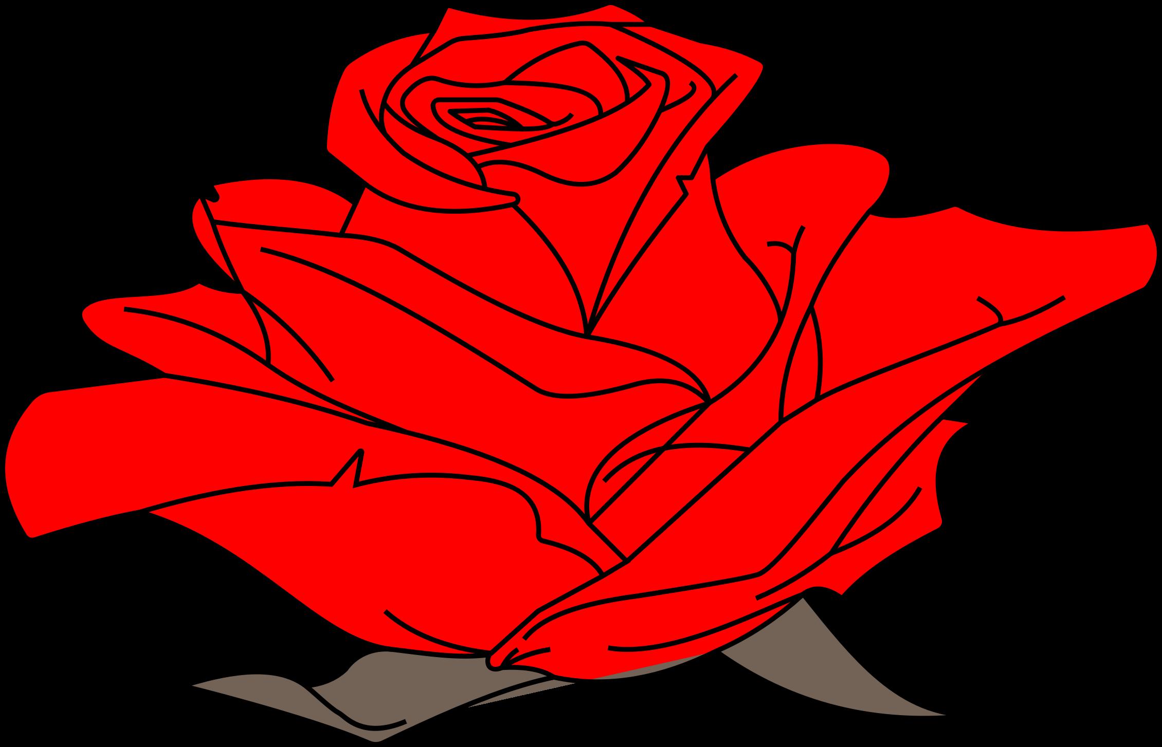 Line Art Rose : Rose line art clipart best