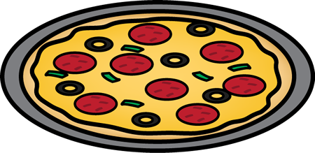 Pizza on a Pan Clip Art - Pizza on a Pan Image