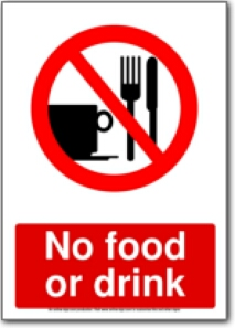 Resource image for no food or drink signs printable