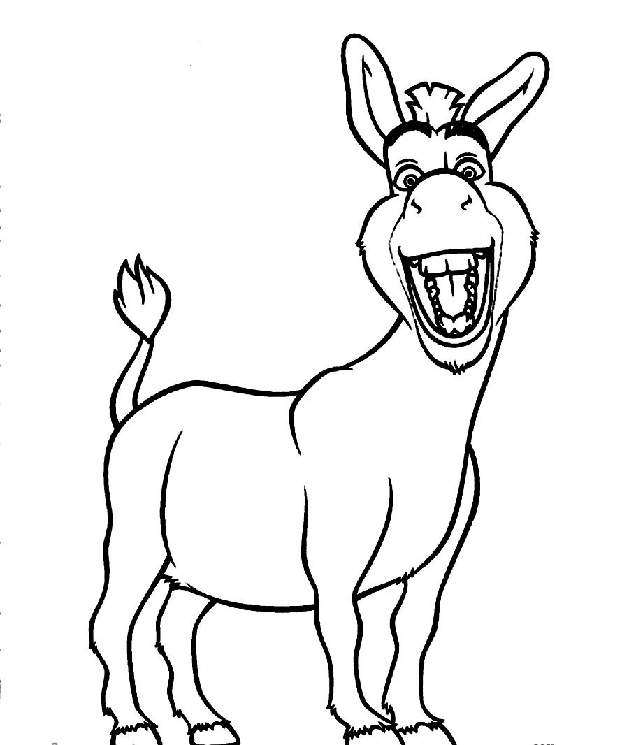 Scribbles Drawing And Coloring Book : Donkey drawing clipart best