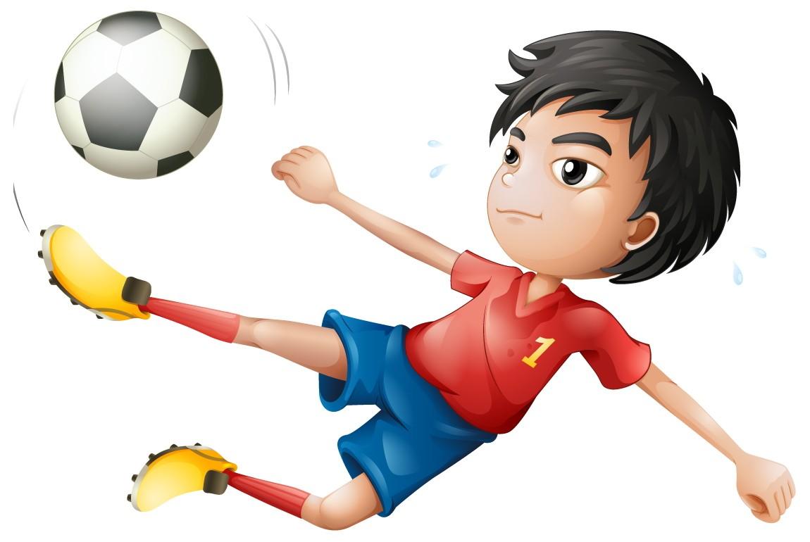 Cartoon Fußball