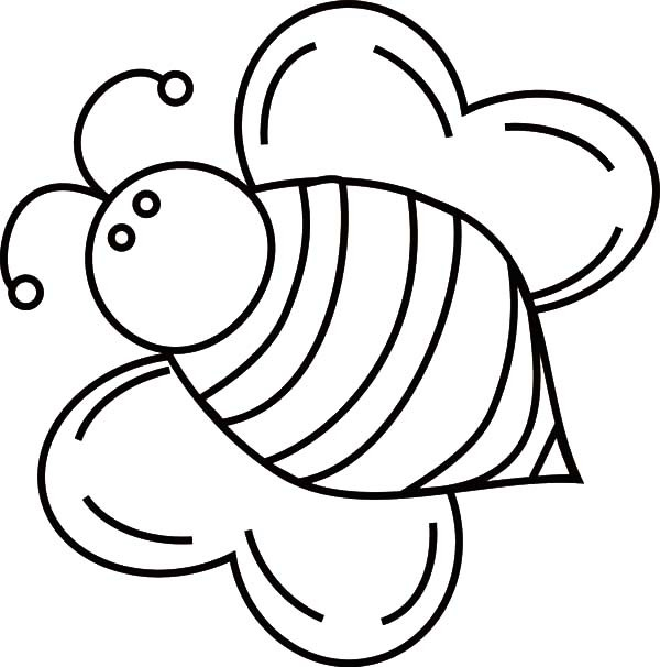 Bees Clipart Flying - Cute Bumble Bee Coloring Pages , Free Transparent  Clipart - ClipartKey | 606x600