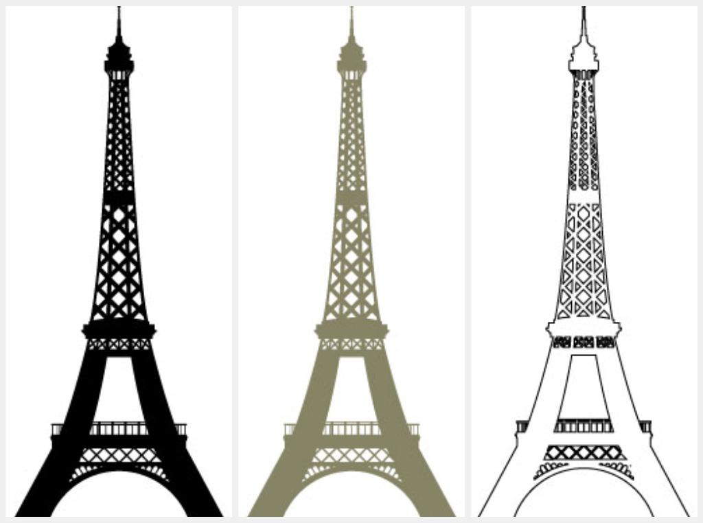 Eiffel Tower Outlinewall Decor Eiffel Tower Interior