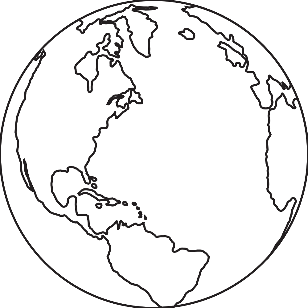 planet earth clipart black and white - photo #15
