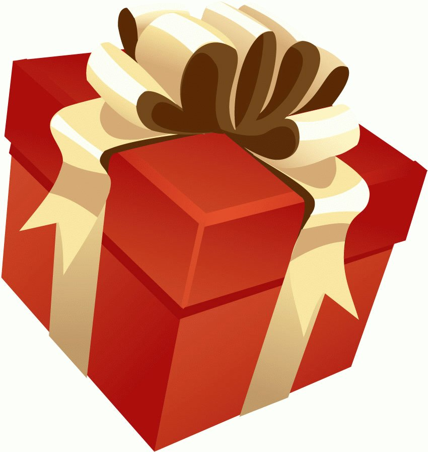 red gift box and ribbon vector vector images free