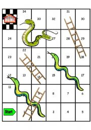 Snakes and ladders clipart best for Chutes and ladders board game template