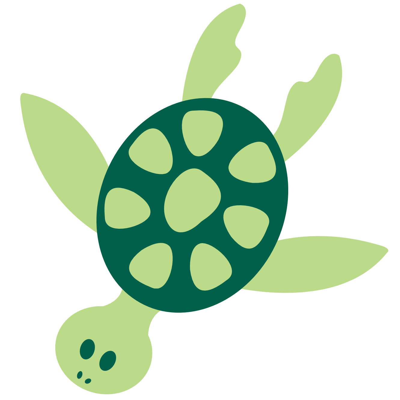 Clip art colorful animal sea turtle animal xmas