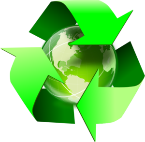 Recycle Symbol With Earth clip art - vector clip art online ...
