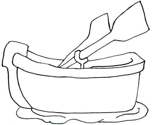 free clip art rowboat - photo #15