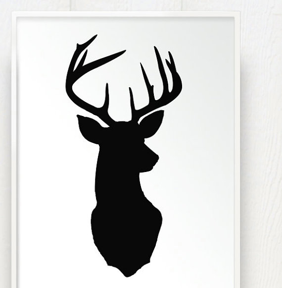 deer antler silhouette clipart best. Black Bedroom Furniture Sets. Home Design Ideas