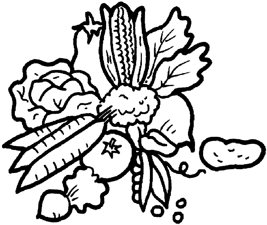 Line Art Vegetables : Line drawings of vegetables clipart best